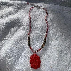 Jewelry - 2/$15 Unique handmade beaded necklace